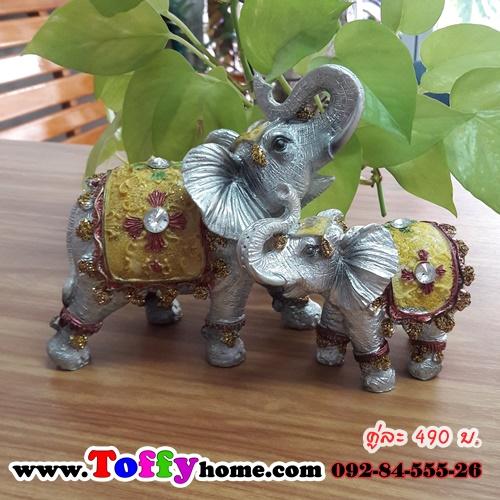 เรซิ่นช้างเสริมบารีของแต่งบ้านมงคลๆยอดนิมยม ขนาด 6*8 cm. , 11*12 cm.