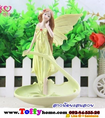 ตุ๊กตาเรซิ่นห้อยขานางฟ้าแสนสวยของแต่งบ้านแนววินเทจ ขนาด 12*13*20 cm.