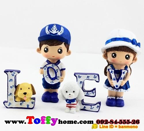 ตุ๊กตาเรซิ่นห้อยขาน่ารักตุ๊กตาตกแต่งบ้านแนวทะเล ขนาด 2.5*5.5*12 cm.