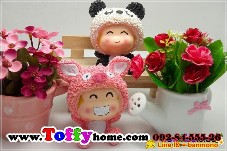 ตุ๊กตาแกะน้อยเรซิ่นของแต่งบ้านน่ารักๆ ขนาด 3.5*6.5 cm.