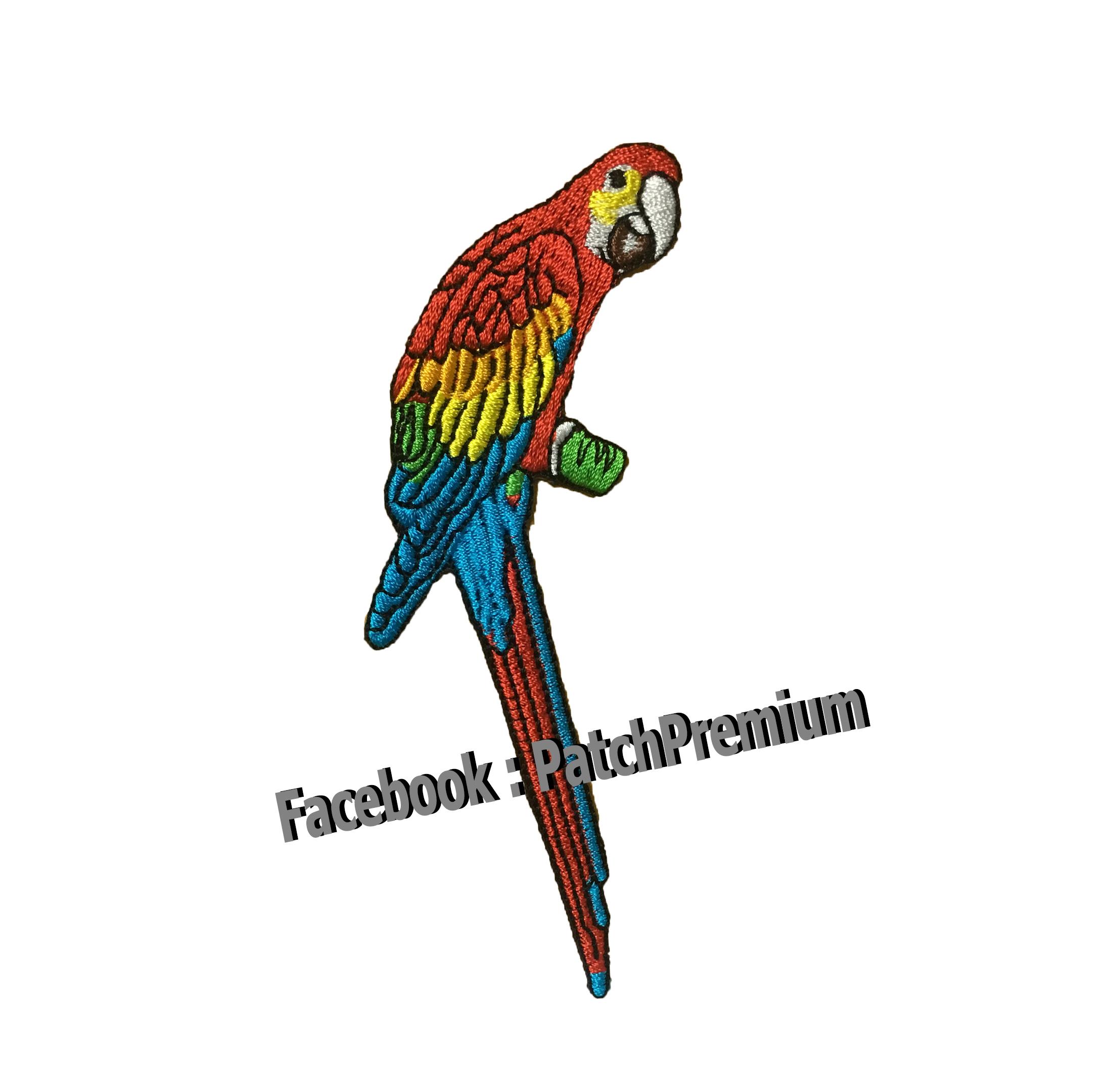 นกแก้วมาคอร์ - ตัวรีด (Size M)