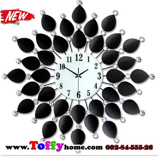นาฬิกาติดผนังใบโพธิ์สุดเก๋ตกแต่งบ้านด้วยนาฬิกาสไตล์โมเดล ขนาด 21*60*60 cm.