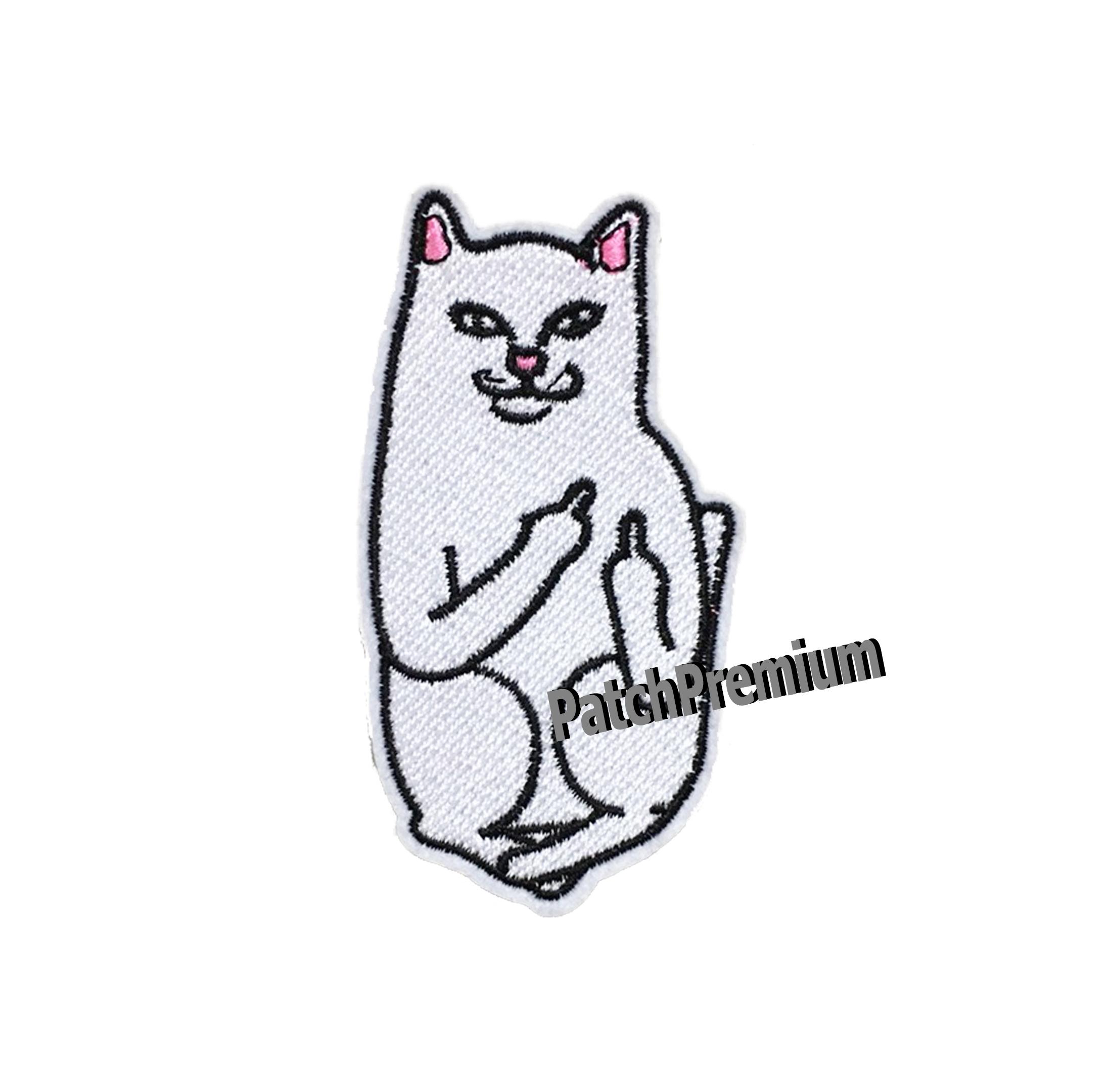 แมวนิ้วกลาง - ตัวรีด (Size M)