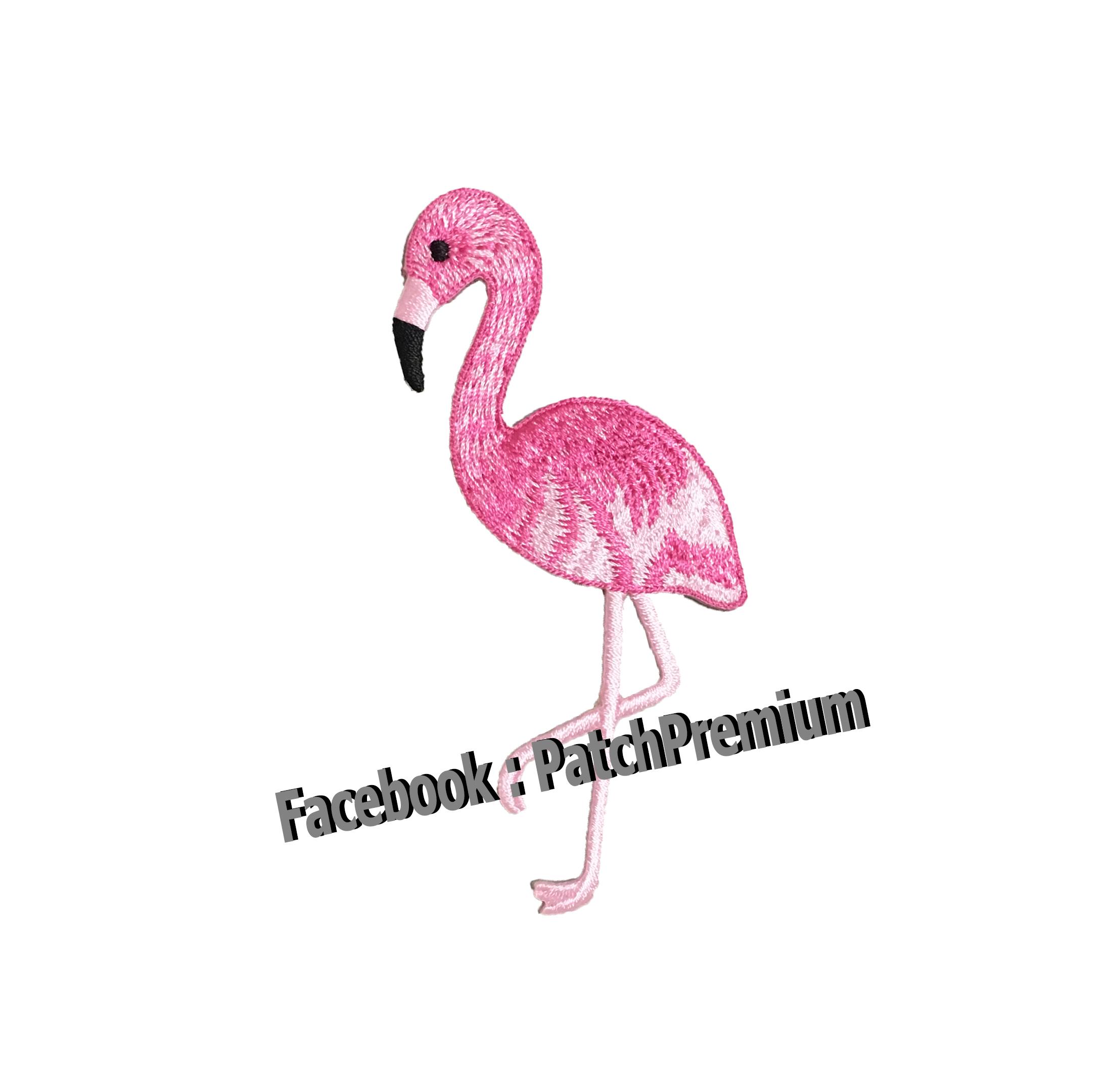 นกฟลามิงโก้ - ตัวรีด (Size M)