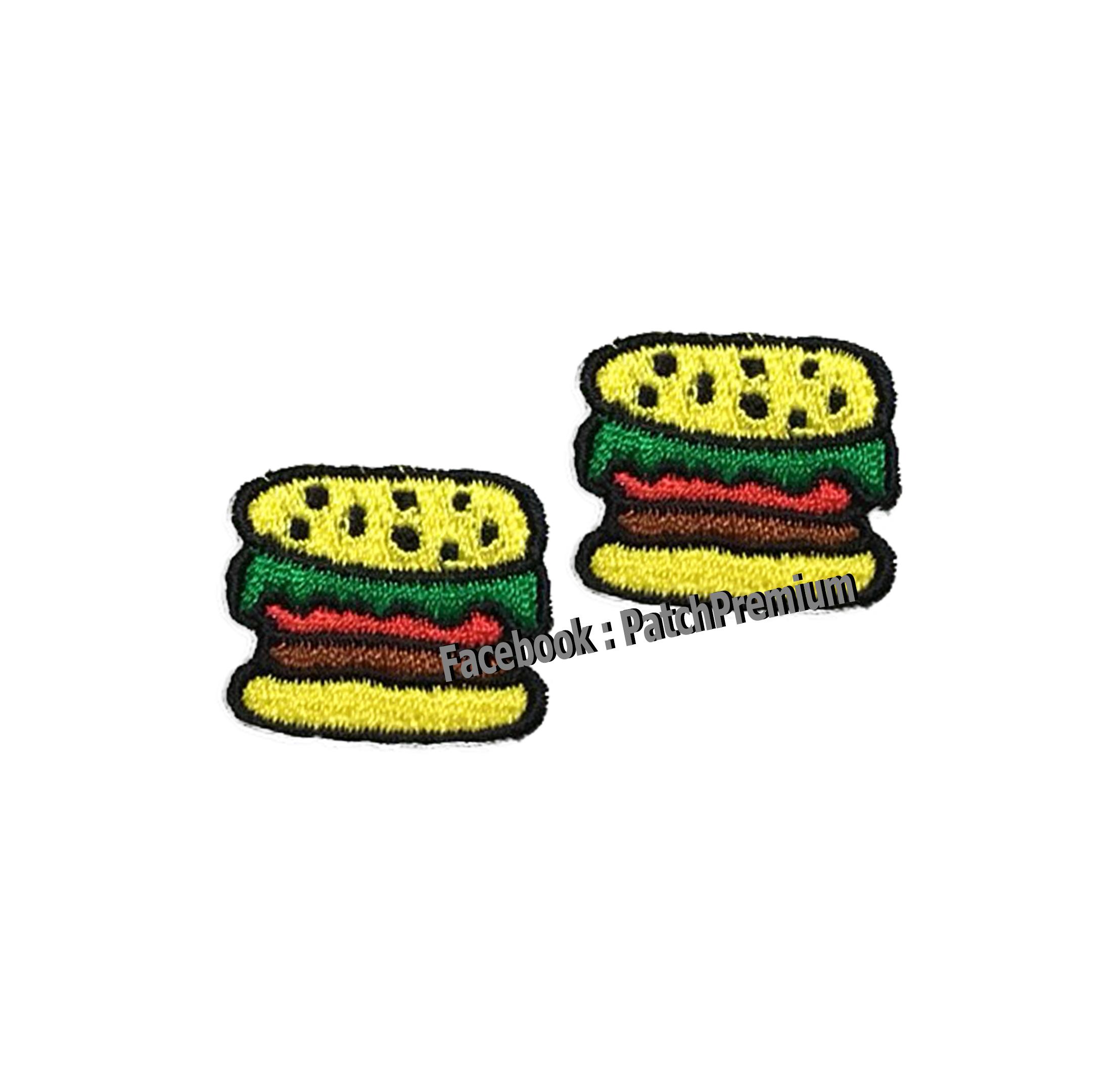 เบอร์เกอร์ แฮมเบอร์เกอร์ ไซส์เล็ก (ขายเป็นคู่ๆละ 35บ.) - ตัวรีด (Size S)