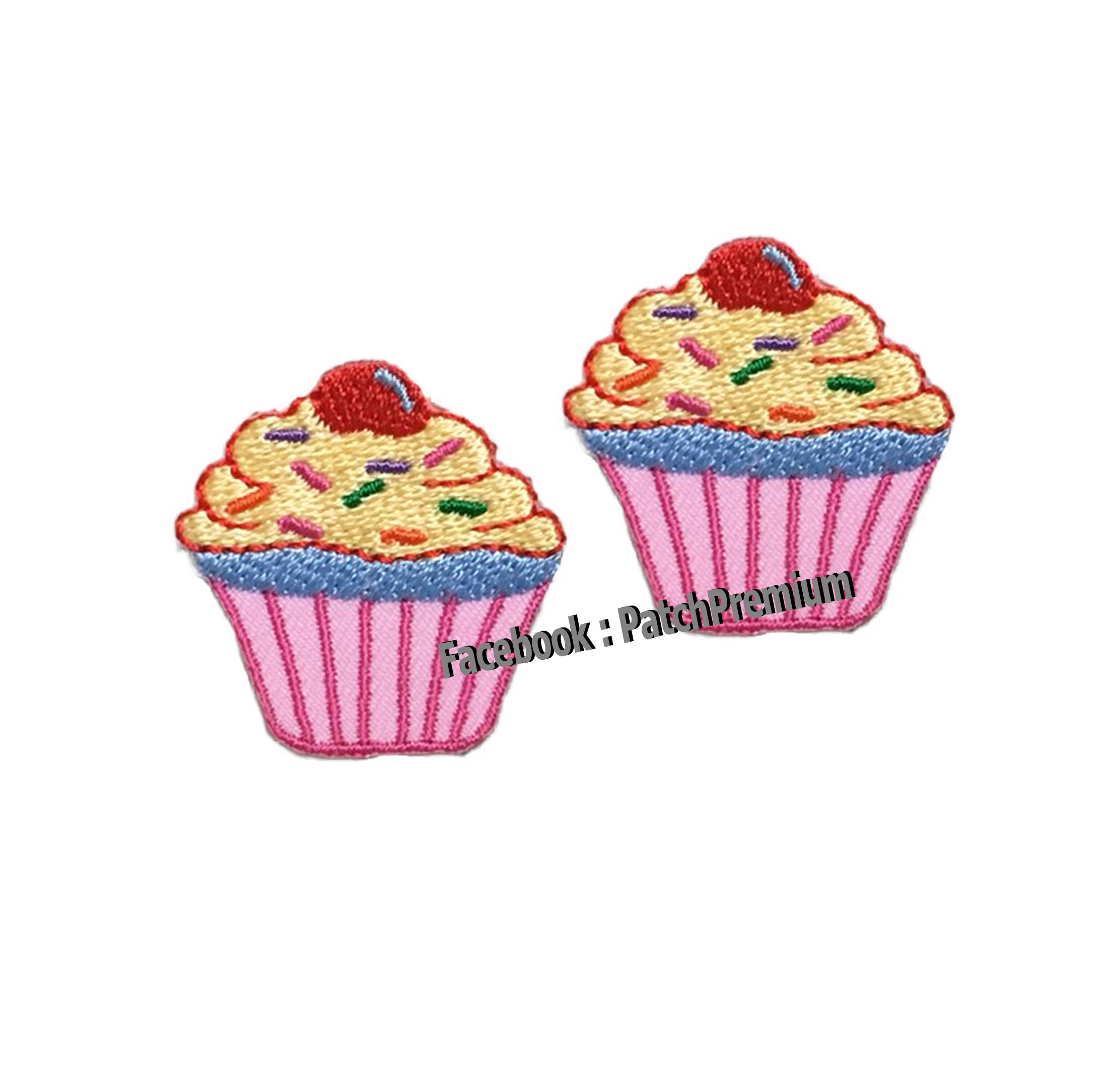 คัพเค้ก ไซส์เล็ก (ขายเป็นคู่ๆละ 35บ.) - ตัวรีด (Size S)