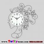นาฬิกาติดผนังคริสตัสเงินนางฟ้าแห่งกาลเวลา ขนาด 25*50*65 cm.