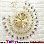 นาฬิกาแขวนผนังนกยูงทองแสนสง่า ขนาด 25*67*67 cm.
