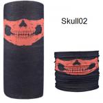 ผ้าบัฟกะโหลก Skull02
