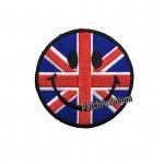 ไอคอนยิ้มอังกฤษ - ตัวรีด (Size M)