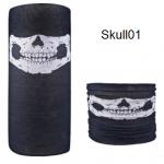 ผ้าบัฟกะโหลก Skull01