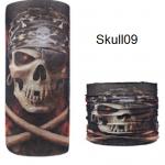 ผ้าบัฟกะโหลก Skull09