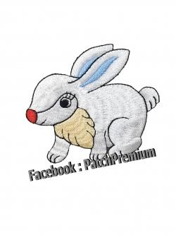 กระต่ายขาว - ตัวรีด (Size M)