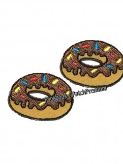โดนัท ช็อคโกแลต ไซส์เล็ก (ขายเป็นคู่ๆละ 35บ.) - ตัวรีด (Size S)
