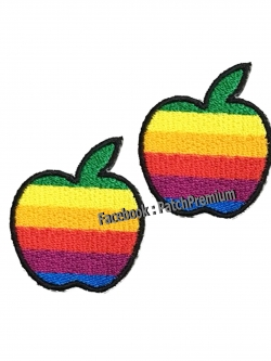แอปเปิ้ลรุ้ง ไซส์เล็ก (ขายเป็นคู่ๆละ 35บ.) - ตัวรีด (Size S)