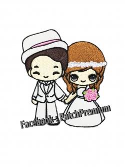 คู่รักแต่งงาน งานแต่ง - ตัวรีด (Size M)