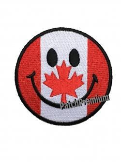 ไอคอนยิ้มแคนาดา - ตัวรีด (Size M)
