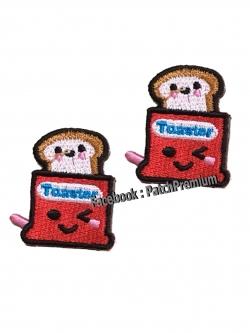 ขนมปังปิ้ง แดง ไซส์เล็ก (ขายเป็นคู่ๆละ 35บ.) - ตัวรีด (Size S)
