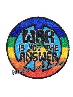 WAR is not the ANSWER - ตัวรีด (Size M)