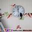 นาฬิกาติดผนังแบบแกว่งสไตล์เก๋ๆกับเหล่านกน้อย ขนาด 24*55*70 cm. thumbnail 1