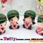 ตุ๊กตาเรซิ่นห้อยขาน่ารักทหารสื่อรัก ขนาด 5*6*8 cm. thumbnail 4