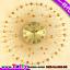 นาฬิกาแขวนผนังติดผนังคริสตัลทองสุดหรูหรา ขนาด 25*60*60 cm. thumbnail 1