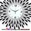 นาฬิกาติดผนังอาทิตย์ยามเย็นประดับคริสตัลเงินสุดคลาสสิคของแต่งบ้านสไตล์เก๋ๆหรูๆ ขนาด 25*70*70 cm. thumbnail 3