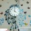 นาฬิกาติดผนังนกยูงคริสตัลฟ้าแสนสง่า ขนาด 24*46*92 cm. thumbnail 1