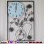 นาฬิกาติดผนังประดับคริสตัลแจกันดอกไม้สุดโมเดลของแต่งบ้านน่ารักๆ ขนาด 24*40*60 cm. thumbnail 3