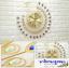 นาฬิกาแขวนผนังนกยูงทองแสนสง่า ขนาด 25*67*67 cm. thumbnail 3