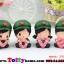 ตุ๊กตาเรซิ่นห้อยขาน่ารักทหารสื่อรัก ขนาด 5*6*8 cm. thumbnail 2