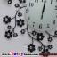 นาฬิกาติดผนังดอกไม้ร่ายรำประดับคริสตังเงินสุดทันสมัย ขนาด 24*53*53 cm. thumbnail 7