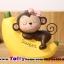 ตุ๊กตาเรซิ่นลิงน้อยตุ๊กตาตกแต่งหน้ารถยอดนิยม ขนาด 7*8 cm. thumbnail 4