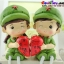 ตุ๊กตาเรซิ่นห้อยขาทหารสื่อรักของแต่งบ้านน่ารักๆ ขนาด 3.5*12 cm. thumbnail 5