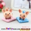 ตุ๊กตาครอบครัวหมูน้อยเรซิ่นน่ารัก ขนาด 4.5*6.5 cm. thumbnail 6