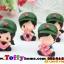ตุ๊กตาเรซิ่นห้อยขาน่ารักทหารสื่อรัก ขนาด 5*6*8 cm. thumbnail 6