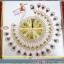 นาฬิกาแขวนผนังนกยูงทองแสนสง่า ขนาด 25*67*67 cm. thumbnail 7