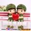 ตุ๊กตาเรซิ่นห้อยขาทหารสื่อรักของแต่งบ้านน่ารักๆ ขนาด 3.5*12 cm. thumbnail 1