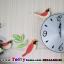 นาฬิกาติดผนังแบบแกว่งสไตล์เก๋ๆกับเหล่านกน้อย ขนาด 24*55*70 cm. thumbnail 2