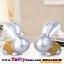 ของแต่งบ้านมงคลกระต่ายเงินกระต่ายทองเรซิ่น ขนาด 18*10.5*20 cm. thumbnail 4