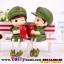 ตุ๊กตาเรซิ่นห้อยขาทหารสื่อรักของแต่งบ้านน่ารักๆ ขนาด 3.5*12 cm. thumbnail 2