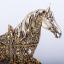 เรซิ่นม้าทองตกแต่งบ้านสุดหรูหรากับสัตว์มงคล ขนาด 8*28*29 cm. thumbnail 4