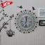 นาฬิกาติดผนังประดับคริสตัลแดงและเขียวสุดสวย ขนาด 22*50*50 cm. thumbnail 5
