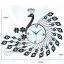 นาฬิกาแขวนผนังสุดหรูหราคริสตัลฟ้ากับนกยูงแสนสง่างาม ขนาด 24*64*78 cm. thumbnail 3