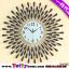 นาฬิกาติดผนังอาทิตย์ยามเย็นประดับคริสตัลเงินสุดคลาสสิคของแต่งบ้านสไตล์เก๋ๆหรูๆ ขนาด 25*70*70 cm. thumbnail 1