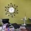 นาฬิกาติดผนังดอกไม้ร่ายรำประดับคริสตังเงินสุดทันสมัย ขนาด 24*53*53 cm. thumbnail 2