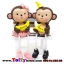 ตุ๊กตาเรซิ่นห้อยขาลิงน้อยน่ารัก ขนาด 3.5*9.5 cm. thumbnail 1