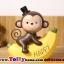 ตุ๊กตาเรซิ่นลิงน้อยตุ๊กตาตกแต่งหน้ารถยอดนิยม ขนาด 7*8 cm. thumbnail 3