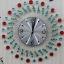 นาฬิกาติดผนังประดับคริสตัลแดงและเขียวสุดสวย ขนาด 22*50*50 cm. thumbnail 2