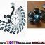 นาฬิกาแขวนผนังสุดหรูหราคริสตัลฟ้ากับนกยูงแสนสง่างาม ขนาด 24*64*78 cm. thumbnail 2